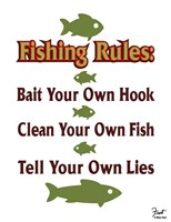 Fishing Rules Fine Art Print
