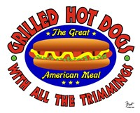 Grilled Hot Dogs Fine Art Print