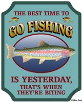 Best Time To Go Fishing Fine Art Print