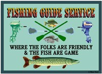 Fishing Guide Service 2 Fine Art Print