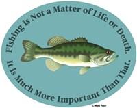 Fishing Life Or Death Fine Art Print