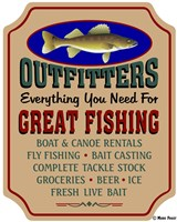 Fishing Outfitters Fine Art Print