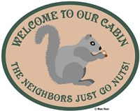 Neighbors Go Nuts Fine Art Print