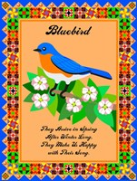 Bluebird Quilt Framed Print