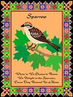 Sparrow Quilt Fine Art Print