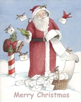 Merry Christmas Santa Fine Art Print