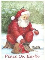 Santa Peace Fine Art Print
