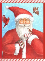 Santas Bird Greeting Fine Art Print