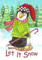 Penguin Let It Snow Fine Art Print