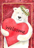 Polar Bear Heart Welcome Fine Art Print