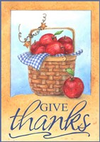 Give Thanks Apple Basket Fine Art Print