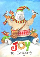 Polar Bear Joy To Everyone Fine Art Print