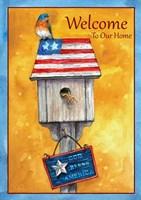 Blue Bird American Welcome Fine Art Print