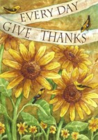 Sunflower Give Thanks Everyday Fine Art Print