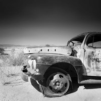 Namibia Rotten Car Framed Print