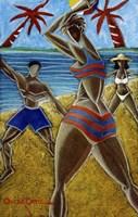 En Luquillo Se Goza Fine Art Print