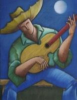 Jibaro Bajo La Luna Fine Art Print