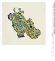 Happy Hippo Fine Art Print