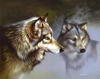 Frost Wolves Fine Art Print