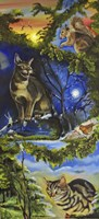 Cats and Fairies Twice as Nice Fine Art Print