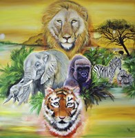 Fantasy Safari Fine Art Print
