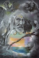 Merlin in Middle Earth Fine Art Print