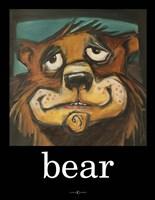 Bear Poster Framed Print