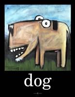 Dog Poster 1 Framed Print