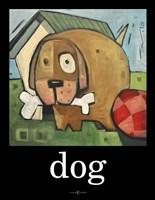 Dog Poster 2 Framed Print