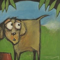 Farting Dog Fine Art Print