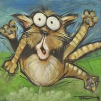 Farting Feline Framed Print