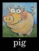 Pig Poster Framed Print
