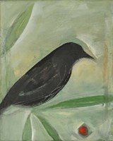 Bird And Berry 1 Framed Print