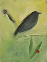 Bird And Berry 3 Framed Print