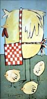Hen And Chicks Fine Art Print