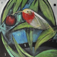 Humming Bird And Cherry Fine Art Print