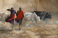 Dusty Cattle Drive Fine Art Print