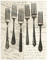 Cutlery Forks in Sepia Fine Art Print