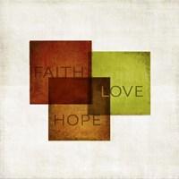Faith, Hope, Love I Framed Print