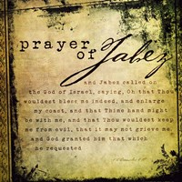 Prayer Of Jabez Fine Art Print