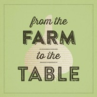 Farm To Table II Framed Print
