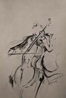 The Cellist Sketch Fine Art Print