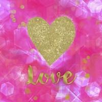 Glitter Love Pink Framed Print