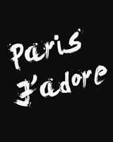 Paris Jadore Framed Print