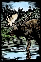Moose 5 Framed Print