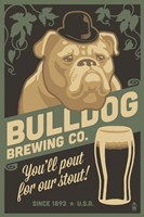 Bulldog Brewing Co. Framed Print