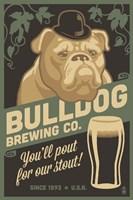 Bulldog Brewing Co. Framed Print