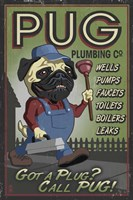 Pug Plumbing Co. Framed Print