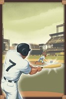 Vintage Baseball I Framed Print