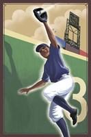Vintage Baseball III Framed Print